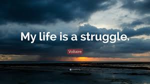 Voltaire Quote My Life Is A Struggle 12 Wallpapers Quotefancy