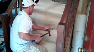 Removing Stair Carpet How To Install Carpet On Stairs Youtube