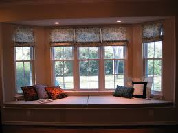 Yellow Wall Paint In Contemporary Living Room With Bay Window Also Recessed  Light Also Window Seat ...