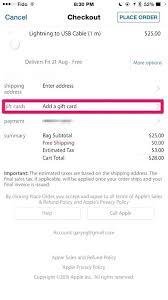 apple store cadeaubon code