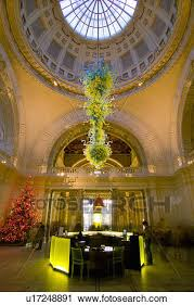 england london south kensington chihuly s chandelier hanging above the reception area at the victoria and albert museum in south kensington