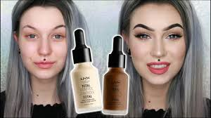 Nyx Foundation Color Chart New Nyx Total Control Drop Foundation Wear Test First Impression Review
