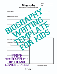 Outline For Writing A Biography Biography Writing Template For Kids Squarehead Teachers