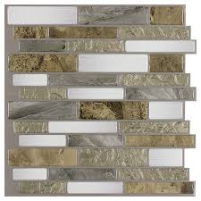 Stick On Backsplash For Kitchen Shop Peelstick Mosaics Mountain Terrain Composite Vinyl Mosaic