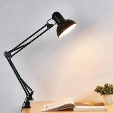 flexible swing arm clamp mount lamp office studio home e27 e26 table black desk light