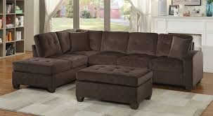 emilio chocolate sectional with ottoman