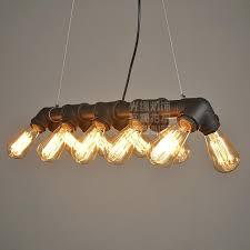 industrial loft water pipe steampunk vintage pendant lights for dining room bar rust black ceiling light