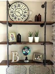 3 4 industrial black iron pipe shelf