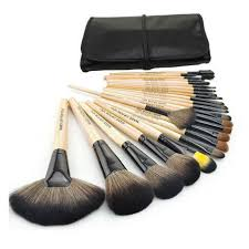 professional 24 pcs makeup brush set make up toiletry kit wool brand make up brush set case