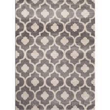 world rug gallery moroccan trellis contemporary gray 8 ft x 10 ft indoor area