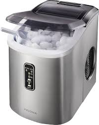 insignia 26 lb portable ice maker stainless steel angle