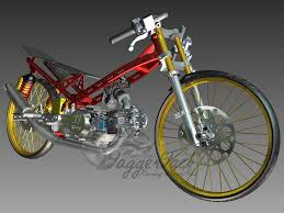 dragbike frame for cub series autodesk inventor 3d cad model