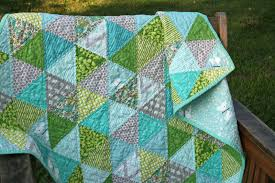 FITF: baby spring triangle quilt | Film in the Fridge & Anyway ... Adamdwight.com