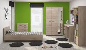 Jugendzimmer Schlafzimmer Kleiderschrank Bett Eiche Sonoma 90x200cm