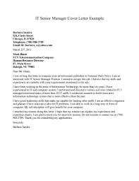 Best Solutions Of Senior Management Resume Cover Letter Samples