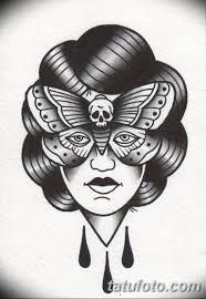 черно белый эскиз тату в стиле олд скул 11032019 023 Tattoo