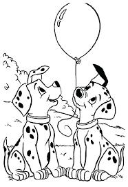 coloring pages inspiring free dalmatian dalmatians for kids 2 101 dalmations book p