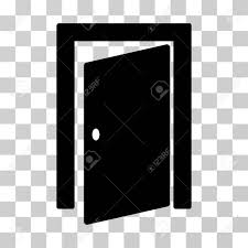 door icon vector ilration style is flat iconic symbol black color transpa background