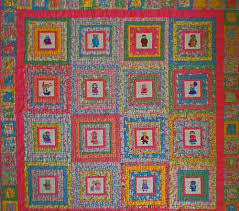 Using batting as a stabilizer under machine embroidered squares ... & The Kitty Quilt Adamdwight.com