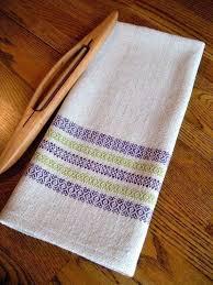 chef towels tea towel hand woven handwoven kitchen towel guest towel periwinkle and green gourmet towel