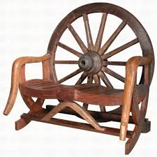 Groovystuff TF-0048 Arapaho Wagon Wheel Bench