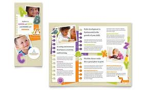 brochure microsoft word kindergarten tri fold brochure microsoft word template publisher