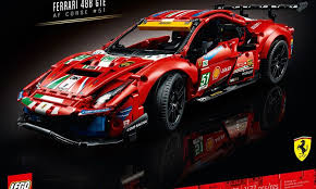 The extensive use of decals for the lego version helps give a strong resemblance to the real number 51 af corse racer. Lego Technic Ferrari 488 Gte Af Corse 51 42125 Officially Revealed