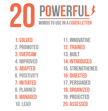 powerful words how to make an impressive cover letter