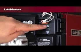 support videos liftmaster how to program the travel on a liftmaster¨ security 2 0ª garage door opener