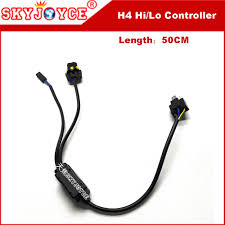 online get cheap wiring harness controller aliexpress com 1 for 1 12v 35w hid bi xenon h4 wire harness controller car headlight control wire