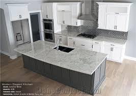 colonial white granite eased edge 3cm kitchen island top perimeter countertop