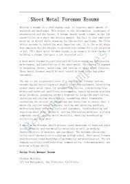 sheet metal foreman resume resume and cover letter examples and sheet metal foreman resume amazing resume creator job resume samples best samples resume sample resume