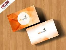Simple Business Card Mockup Free Psd Psdfreebiescom
