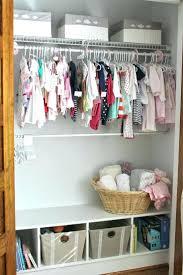 Nursery Closet Organizer Pink Delta Small Baby Organization Ideas