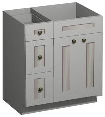 bathroom vanities 30 inch white. Simple Vanities 30 Inch White Shaker Vanity Combo BaseDrawers Left  US Cabnet Depot In Bathroom Vanities Inch P