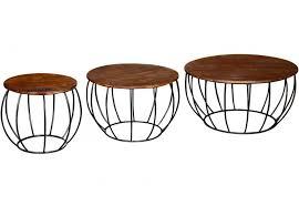 vintage style vida living durango round coffee table