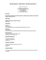 Examples Of Resumes Resumebuilderwebwebsite First Job Resume