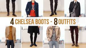 These ankle boots are suitable for all seasons, it's a good gift for father's day, halloween, thanksgiving day and christmas day. 8 Different Chelsea Boot Outfits Men S Fashion Outfit Ideas Youtube