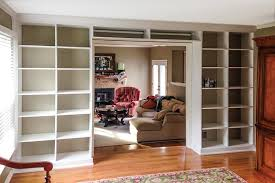 wall unit organization system in white for books and open storage