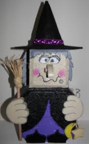Witch brick patio paver decoration Facebook- Thewoodbin
