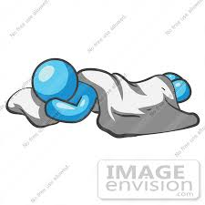 blanket and pillow clipart. #35909 clip art graphic of a sky blue guy character sleeping on pillow with blanket and clipart