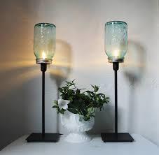 twin green mason jar table lamps beautiful white ceramic vase with ornamental plants