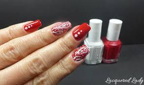 Red Paisley Nail Art