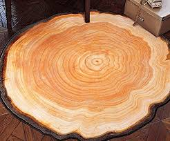 leevan area rug round shape tree growth ring style printed home decor floor mat carpet 4
