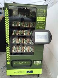 Organic Food Vending Machines Interesting Twitterenabled Vending Machine Gives Out Free Seeds For Tweets