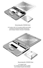 compaq hp notebook optical drive installation guide following section applies only to hp pavilion 5300 and 5200 hp nx9010 and compaq presario 2500 models