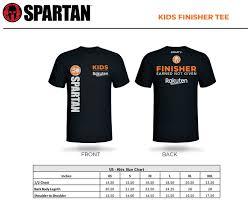 Kids Size Chart Australia Kids Race Shirt Sizing Spartan Race Australia