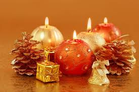 Pine Cone Candles Photo Christmas Candles Pine Cone Holidays