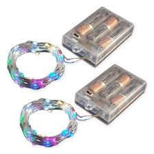 50-Count LED <b>Mini Fairy String Lights</b> with Timer (Set of 2) | Bed ...