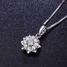 ming diamond international carat effect diamond pendant group diamond necklace women s style silver necklace customizable platinum